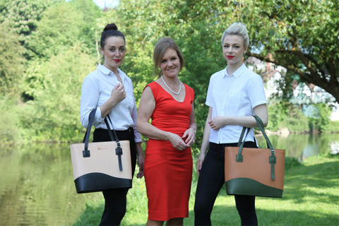 Englana® Founder, Helen Gutteridge with the Models in Shrewsbury