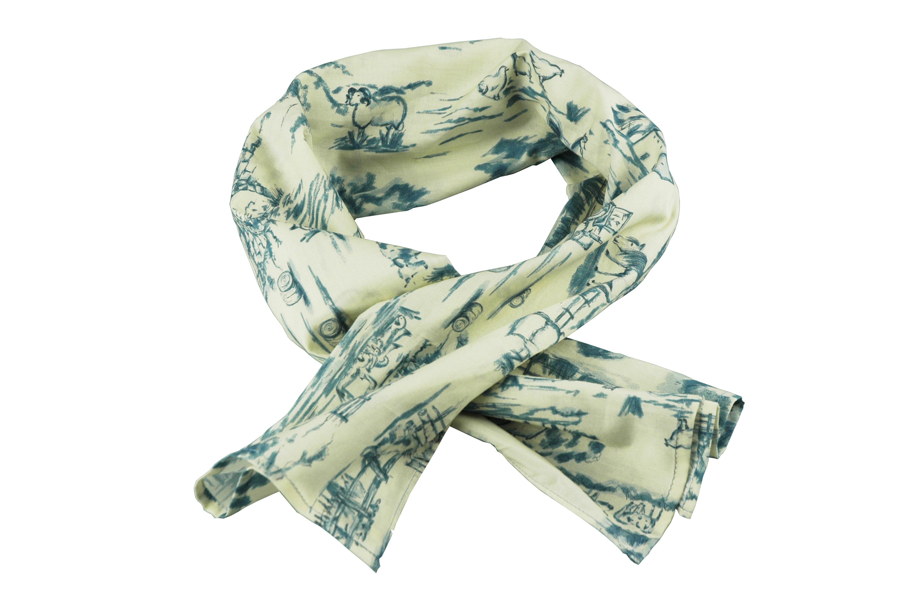 Englana | The Bertie Navy English Scarf