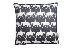 Horse scatter cushion in navy . Luxury-home-furnishing, good-house-keeping-cushions, Modern- red-cushions, farmhouse-style-cushions.
