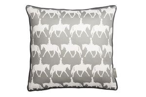 Horse scatter cushion in grey . Luxury-home-furnishing, good-house-keeping-cushions, Modern- red-cushions, farmhouse-style-cushions.