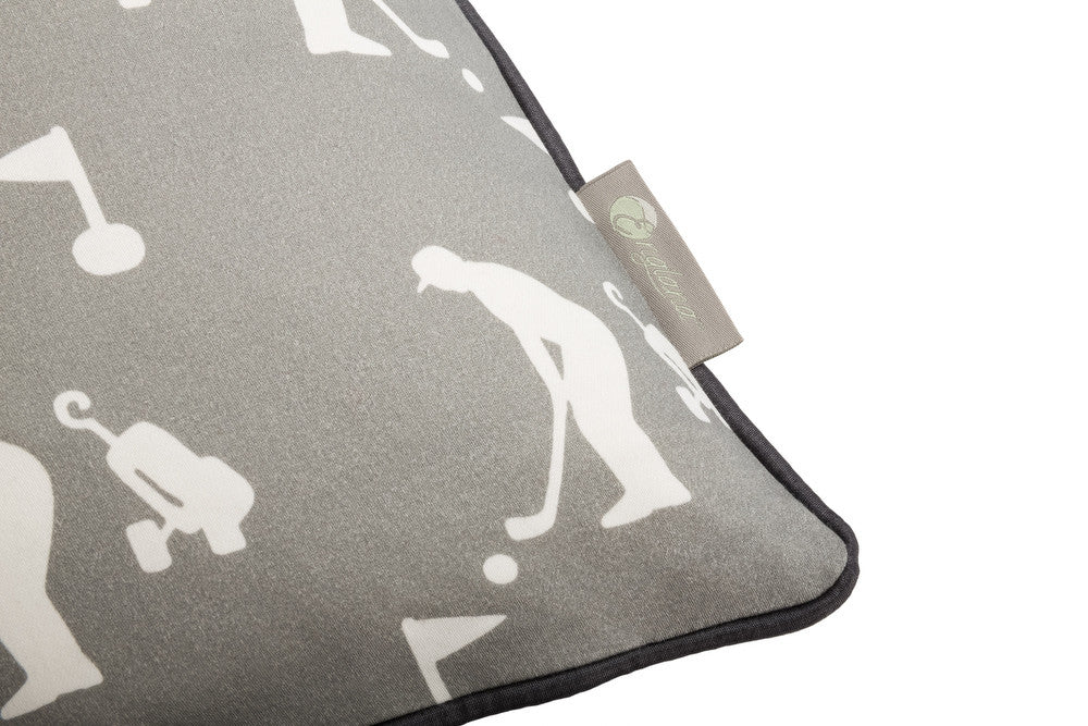 golf design scatter cushion in grey . Luxury-home-furnishing, good-house-keeping-cushions, Modern- red-cushions, farmhouse-style-cushions.