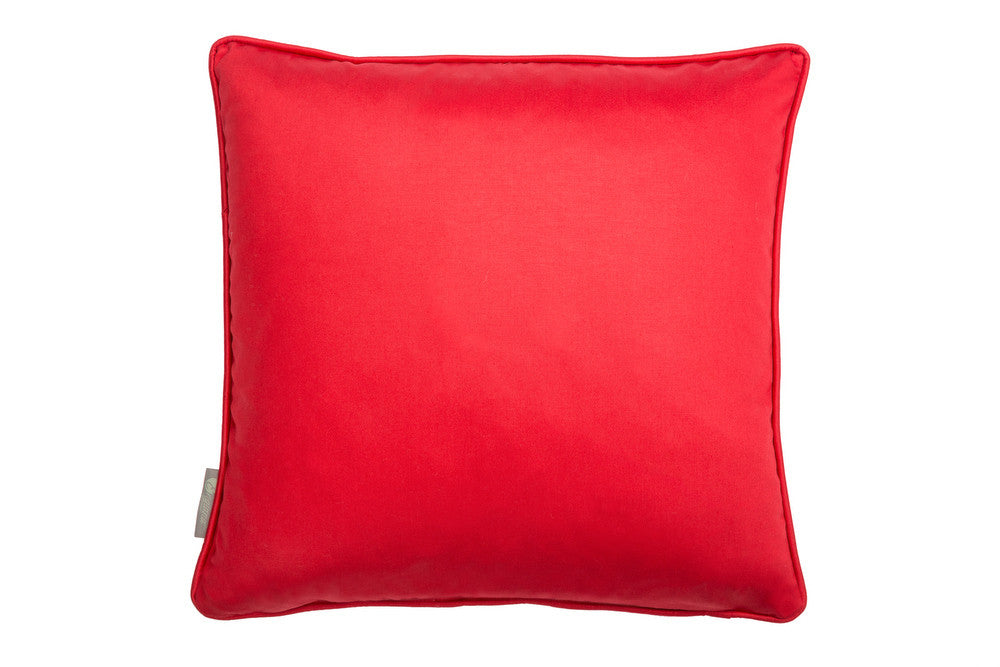 equine cushion in red