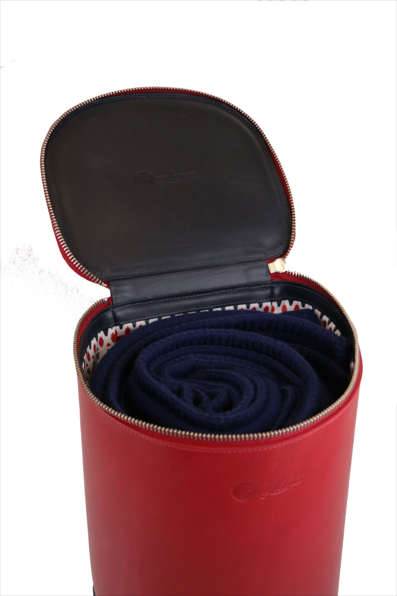 Small blanket bag storage container. Luxury wedding gift ideas.