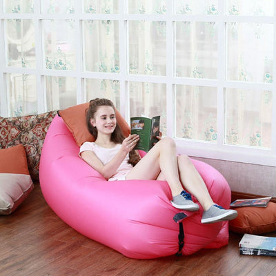 Living Room Bean Bag Cushion, Outdoor Self Inflated Beanbag Furniture