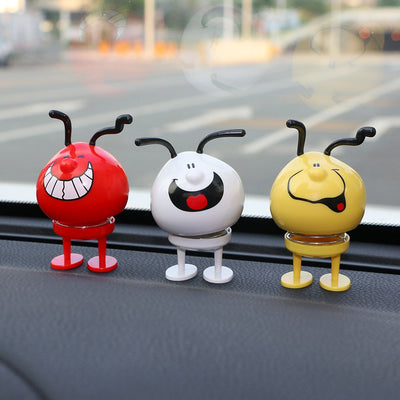 Car Ornament Cute Funny Bounce Dog Doll Automobile Interior Dashboard Decoration Jumping Toys Display Creative Decor Accessories