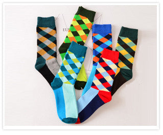 Men/women Colour casual crew cotton happy sock harajuku