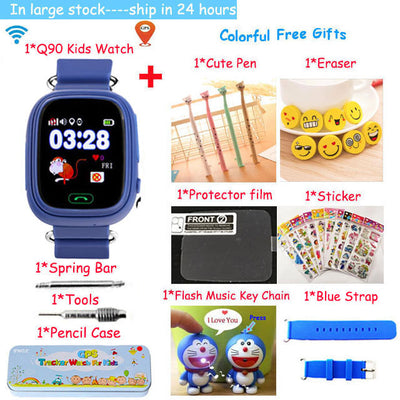 GPS Q90 Smart baby Watch phone with sim card WIFI Location SOS Call Tracker children Anti-Lost Monitor Device watch PK Q100 Q50