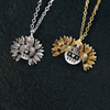 "Image of ""WIFE MOM BOSS""- SUNFLOWER NECKLACE + FREE GIFT BOX"