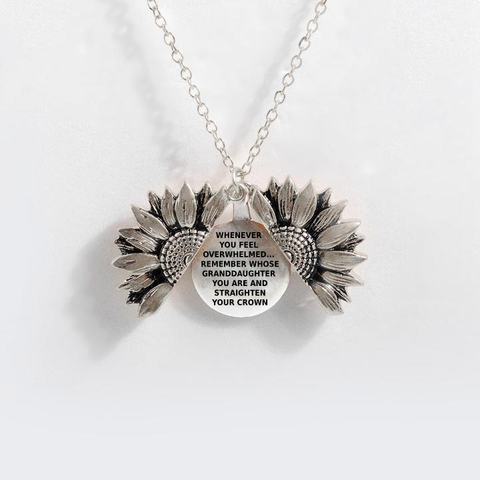 """STRAIGHTEN YOUR CROWN""- SUNFLOWER NECKLACE"