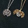 "Image of ""BEST FRIENDS FOR LIFE ""- SUNFLOWER NECKLACE + FREE GIFT BOX"