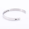 Image of INNER ENGRAVED INSPIRATIONAL CUFF BRACELET BANGLE(BUY 1 GET 1 FREE)