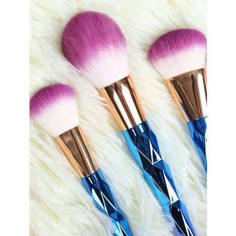 Rainbow Mermaid Brushes - 7 Piece Set