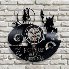 Rare Nightmare Vinyl Clock