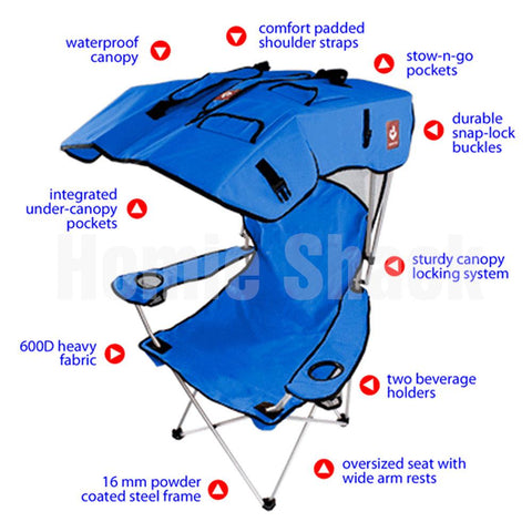 Multi-functional Wind & Rain Proof Sunscreen Folding Chair
