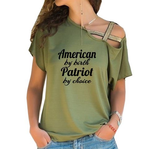 American Patriot Cross Shoulder T-shirt