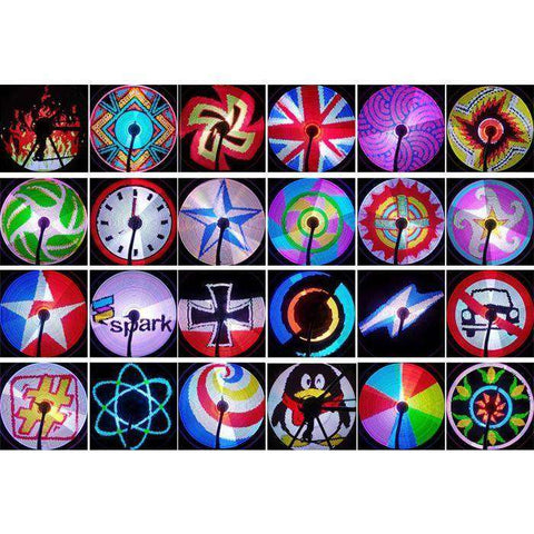128 Colorful Bicycle Wheel Lights