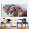 Image of MULTICOLOR HORSES CANVAS