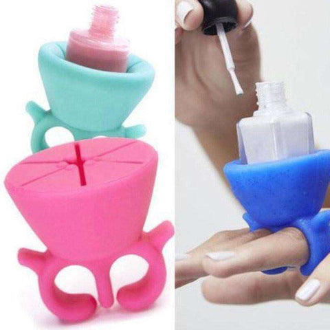 Wearable nail bottle Holder