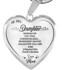 """STRAIGHTEN YOUR CROWN""- HEART NECKLACE"