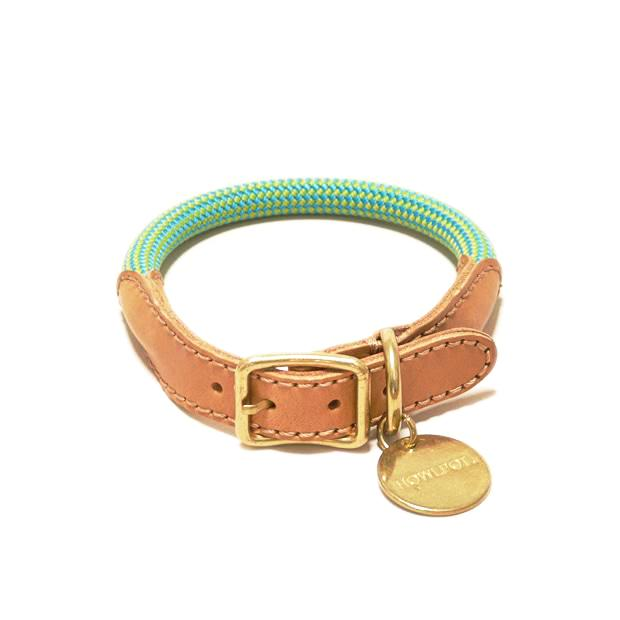 Howlpot We Are Tight: Rope Dog Collar| Palm Tree