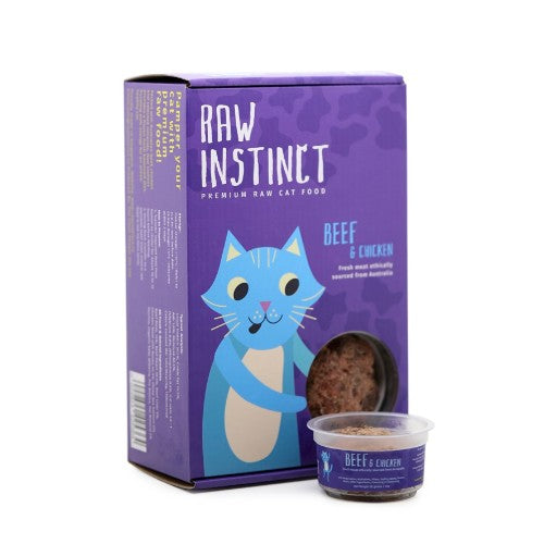 Raw Instinct Frozen Raw Free Range Chicken & Beef Cat Food - FURRPLAY