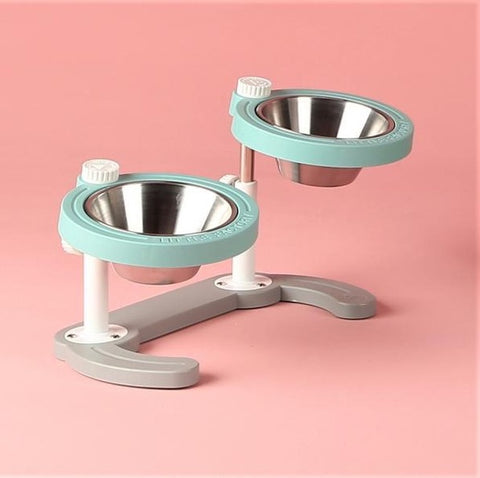 Little Factory Duo Adjustable Elevated Feeding Bowl | 4 Colors - FURRPLAY