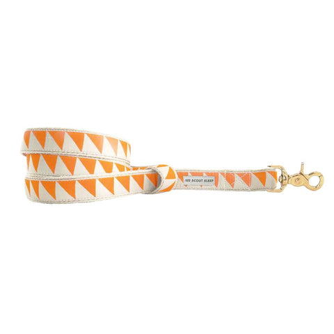 See Scout Sleep Nice Grill Dog Leash | Tangerine x Cream - FURRPLAY