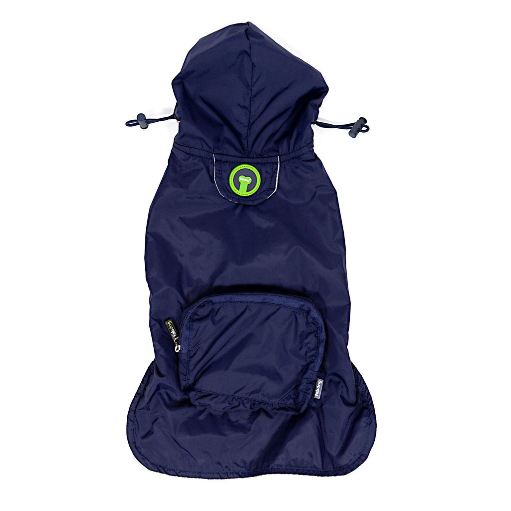 Fabdog Navy Packaway Raincoat - FURRPLAY