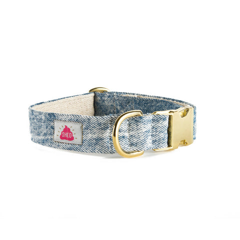 Mom Jeans Collar in Acid Wash