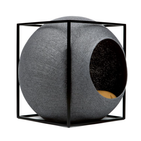 Meyou Paris Cat Bed Dark Grey Cube - FURRPLAY