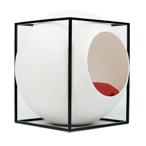 Meyou Paris Cat Bed Ivory Cube - FURRPLAY