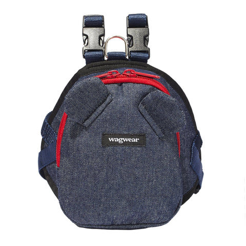 WAGWEAR | Denim Mini Dog Backpack