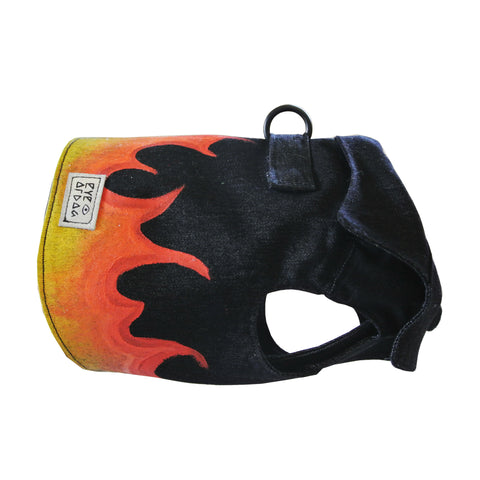 Black Flames Vest Harness - FURRPLAY