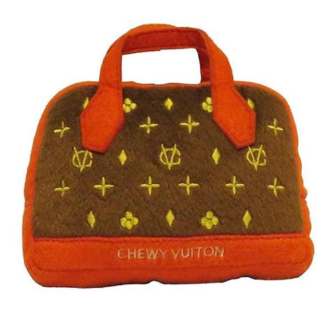 Chewy Vuitton Posh Purse Dog Toy