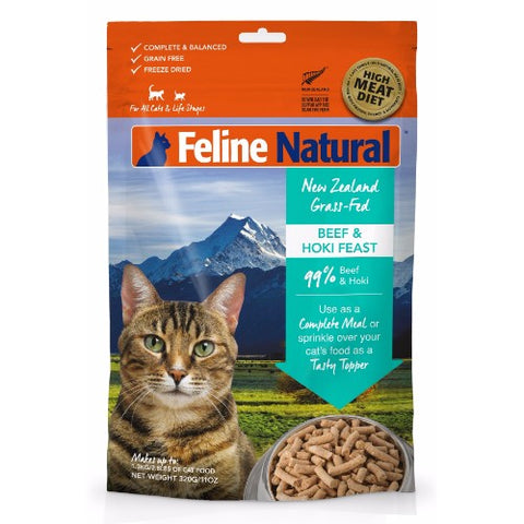 Feline Natural Freeze Dried Beef and Hoki Feast - FURRPLAY