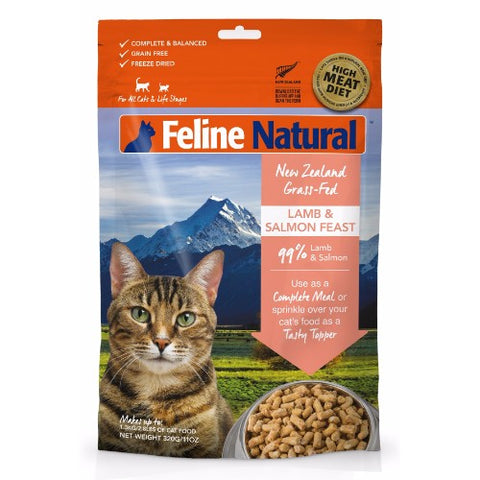 Feline Naturall Freeze Dried Lamb And Salmon - FURRPLAY