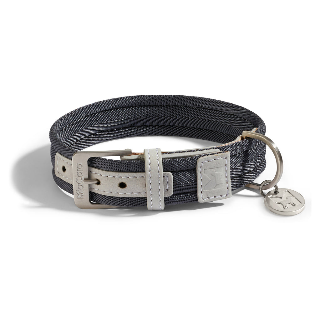 MiaCara Riva Dog Collar | Graphite Peargrey - FURRPLAY