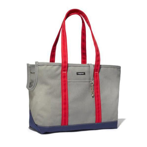 Tri-Color Boat Canvas Carrier | Grey.Navy.Red