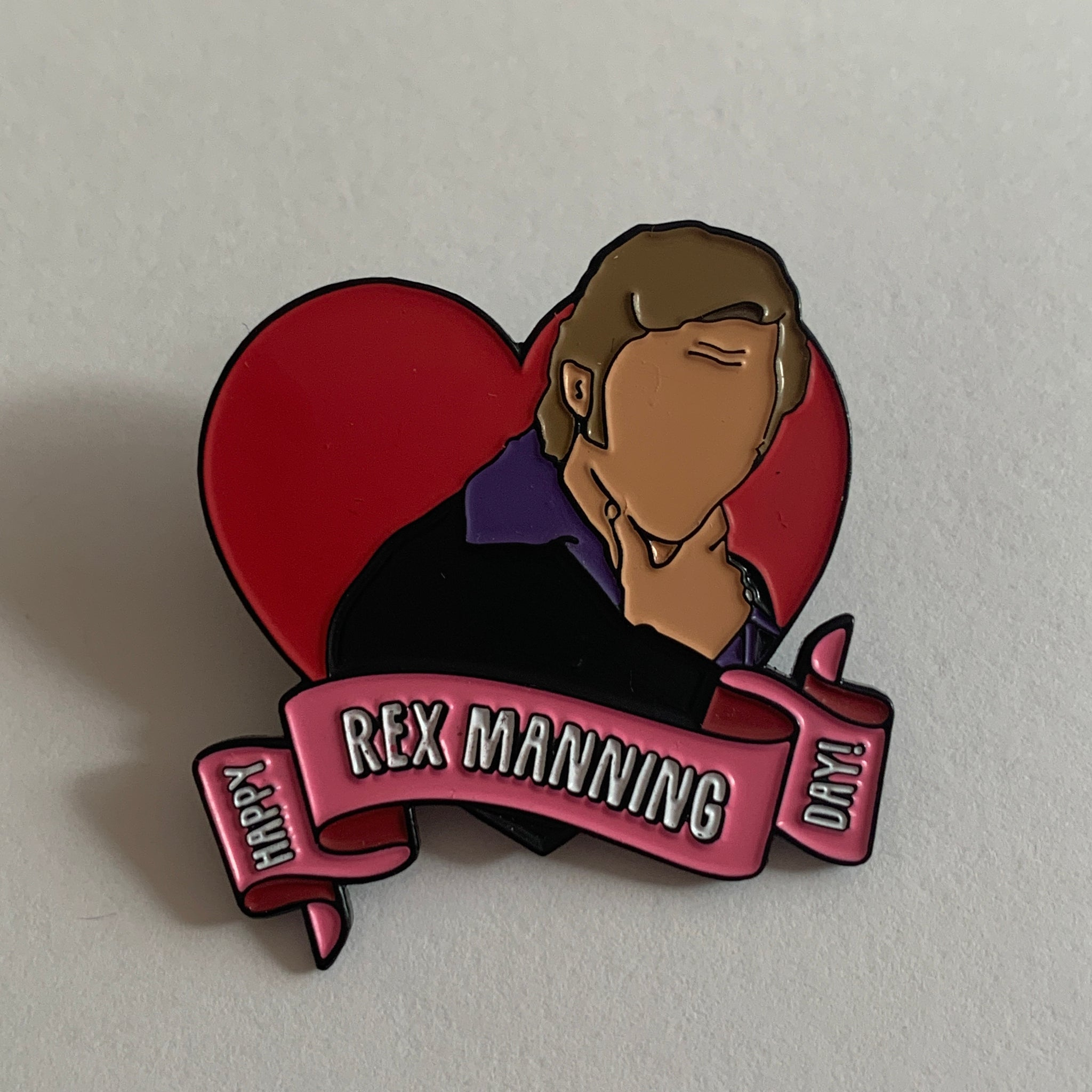 SECONDS - Rex Manning Day Enamel Pin [SS02]