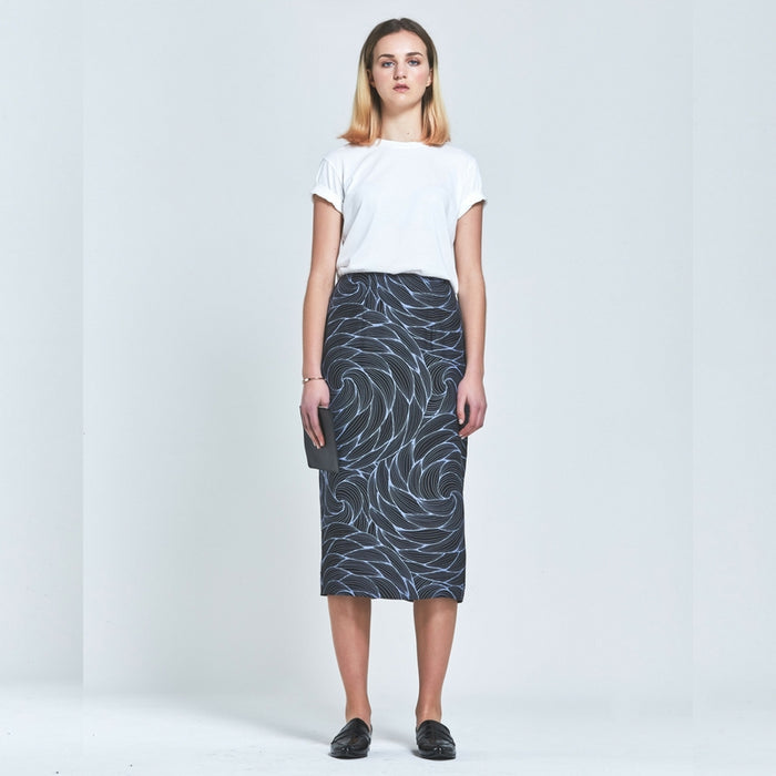 CLÈMENCE | Premium Silk Floral Pencil Skirt