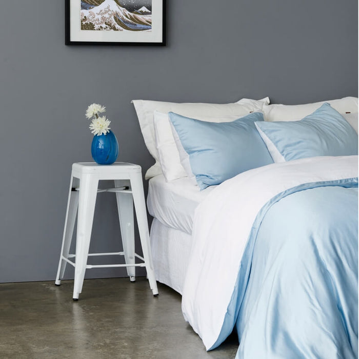 Ettitude | Mare Duvet Cover Set | Starlight Blue / White