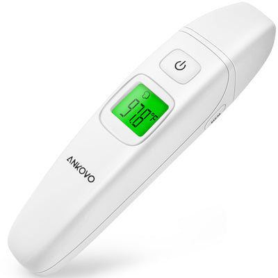 ANKOVO Ear and Forehead Thermometer Medical Digital Clinical Infrared Thermometer for Baby Kids Adults Upgraded Accuracy CE and FDA Approved - ankovo.com