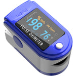 Pulse Oximeter Fingertip, Blood Oxygen Saturation Monitor Fingertip, Portable Blood Oxygen Meter Finger Oximeter Finger with Pulse, O2 Monitor Finger for Oxygen