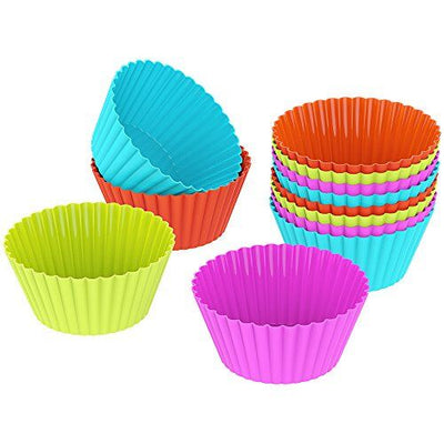 ANKOVO Silicone Baking Cups Cupcake Liners Muffin Cake Molds Sets, 12 Piece - ankovo.com