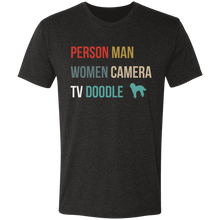 People Man Women Camera TV Doodle Triblend T-Shirt