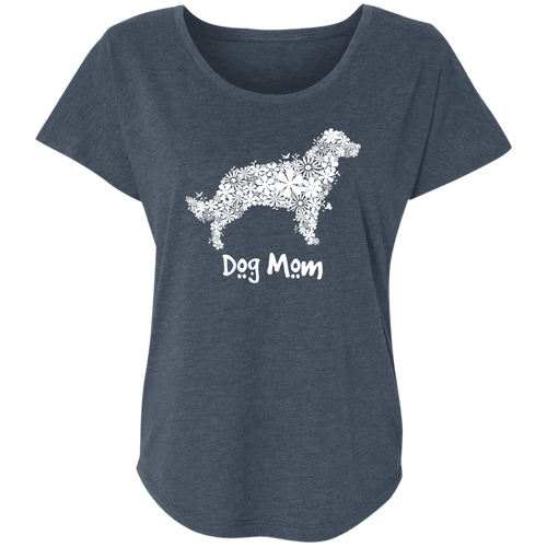 Dog Mom Ladies' Triblend Dolman Sleeve