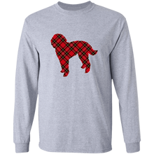 Plaid Doodle LS Ultra Cotton T-Shirt