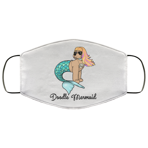 Doodle Mermaid Face Mask