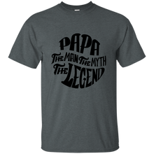 Papa the Man the Myth Cotton T-Shirt
