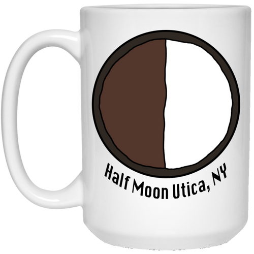 Half Moon 15 oz. White Mug